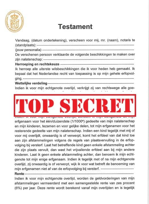 testament geheim