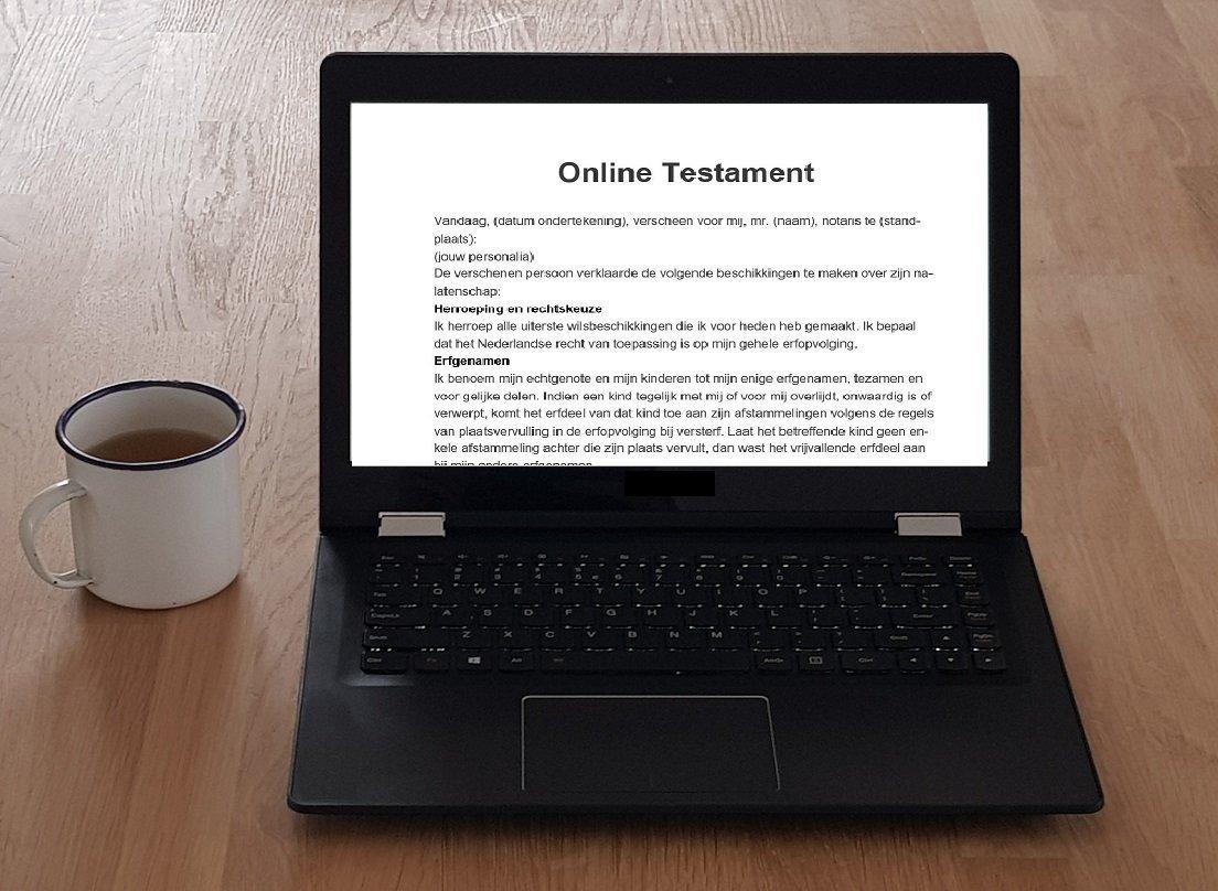 testament opstellen online