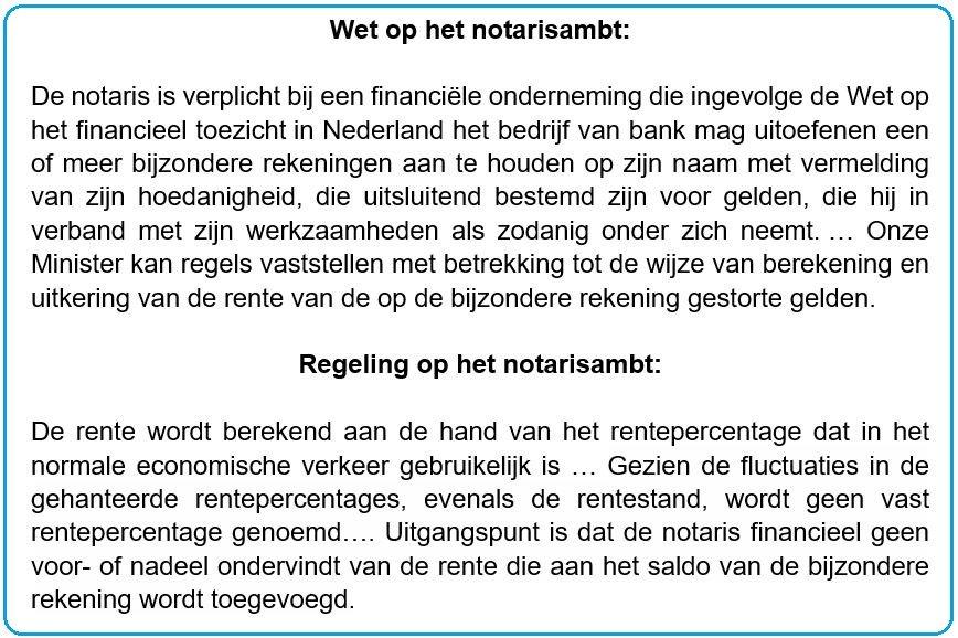 negatieve rente notaris verkoper